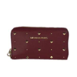 Michael Kors Cherry Lg Flat Phone Case Leather
